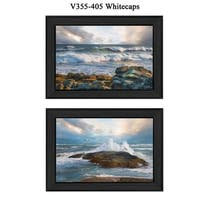 """""""Whitecaps"""" Collection By Robin-Lee Vieira, Printed Wall Art, Ready To Hang Framed Poster, Black Frame"""