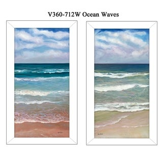 """""""Ocean Waves"""" Collection By Ed Wargo, Printed Wall Art, Ready To Hang Framed Poster, White Frame"""