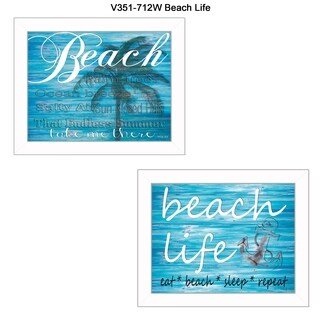 """""""Beach Life"""" Collection By Cindy Jacobs, Printed Wall Art, Ready To Hang Framed Poster, White Frame"""