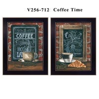 """""""Coffee Time"""" Collection By Diane Weaver, Printed Wall Art, Ready To Hang Framed Poster, Black Frame"""