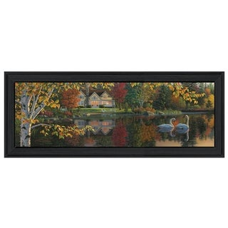 """Autumn Grace Panoramic"" By Kim Norlien, Printed Wall Art, Ready To Hang Framed Poster, Black Frame"