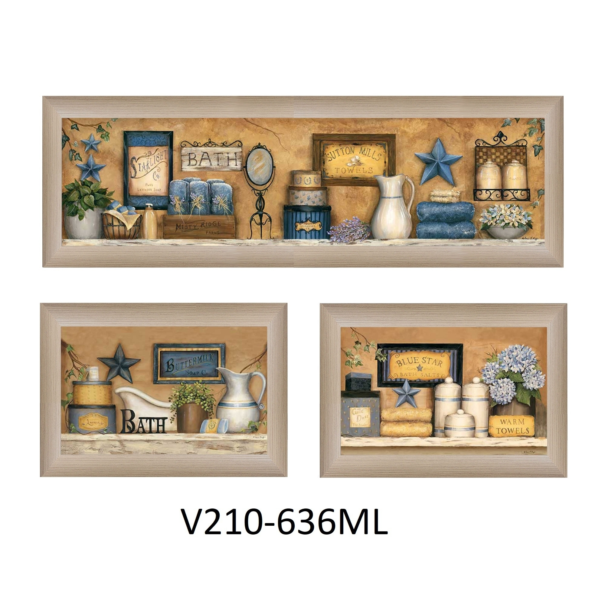 Bathroom Collection Iii Collection By Carrie Knoff Printed Wall Art Ready To Hang Framed Poster Beige Frame On Sale Overstock 18220844