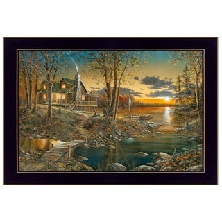 """Comforts of Home"" By Jim Hansen, Printed Wall Art, Ready To Hang Framed Poster, Black Frame"