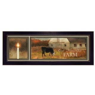 """God Bless Our Farm"" By Robin-Lee Vieira, Printed Wall Art, Ready To Hang Framed Poster, Black Frame"