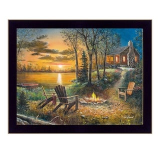 """Fireside"" By Jim Hansen, Printed Wall Art, Ready To Hang Framed Poster, Black Frame"