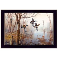"""Backwater"" By Jim Hansen, Printed Wall Art, Ready To Hang Framed Poster, Black Frame"