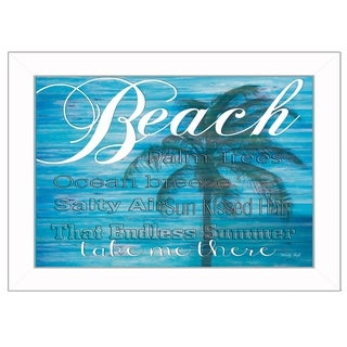 """""""Take Me There"""" By Cindy Jacobs, Printed Wall Art, Ready To Hang Framed Poster, White Frame"""