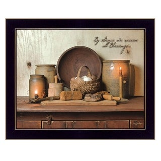 """""""By Grace"""" By Susan Boyer, Printed Wall Art, Ready To Hang Framed Poster, Black Frame"""
