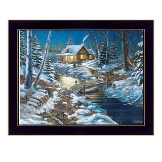 """Woodland Retreat"" By Jim Hansen, Printed Wall Art, Ready To Hang Framed Poster, Black Frame"