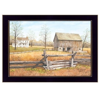 """""""The Homestead"""" By Ed Wargo, Printed Wall Art, Ready To Hang Framed Poster, Black Frame"""