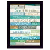 """Live in the Present"" By Marla Rae, Printed Wall Art, Ready To Hang Framed Poster, Black Frame"