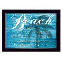 """""""Take Me There"""" By Cindy Jacobs, Printed Wall Art, Ready To Hang Framed Poster, Black Frame"""