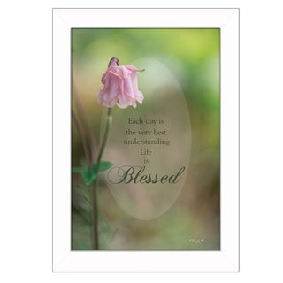 """Blessed"" By Robin-Lee Vieira, Printed Wall Art, Ready To Hang Framed Poster, White Frame"
