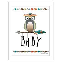 """""""Owl Baby"""" By Susan Boyer, Printed Wall Art, Ready To Hang Framed Poster, White Frame"""