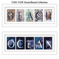 """""""Ocean/Beach"""" Collection By Robin-Lee Vieira, Printed Wall Art, Ready To Hang Framed Poster, White Frame"""