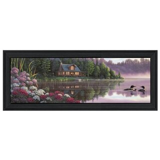 """Beside Still Waters"" By Kim Norlien, Printed Wall Art, Ready To Hang Framed Poster, Black Frame"