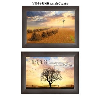 """Amish Country"" Collection By Lori Deiter, Printed Wall Art, Ready To Hang Framed Poster, Brown Frame"
