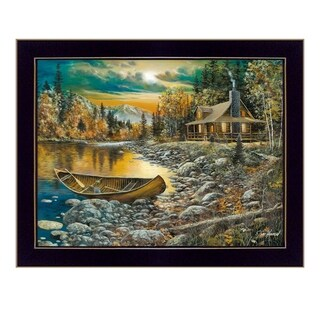 """High Country Retreat"" By Jim Hansen, Printed Wall Art, Ready To Hang Framed Poster, Black Frame"