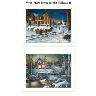 """Home for the Holidays"" Collection By Jim Hansen, Printed Wall Art, Ready To Hang Framed Poster, White Frame"