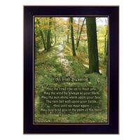"""""""Irish Blessing"""" By Trendy Decor4U, Printed Wall Art, Ready To Hang Framed Poster, Black Frame"""