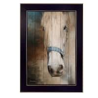 """""""Old Gray Mare"""" By Robin-Lee Vieira, Printed Wall Art, Ready To Hang Framed Poster, Black Frame"""