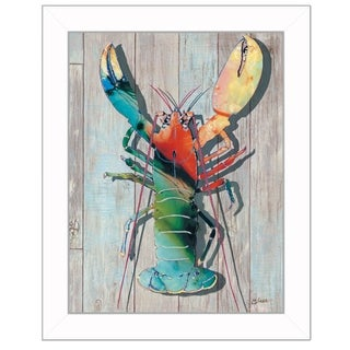 """Lobster II"" By Sear, Printed Wall Art, Ready To Hang Framed Poster, White Frame"