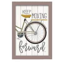 """""""Moving Forward"""" By Marla Rae, Printed Wall Art, Ready To Hang Framed Poster, Beige Frame"""