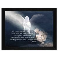 """Protect our Soldiers"" By Trendy Decor4U, Printed Wall Art, Ready To Hang Framed Poster, Black Frame"