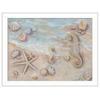"""""""Gift of the Sea II"""" By Sear, Printed Wall Art, Ready To Hang Framed Poster, White Frame"""