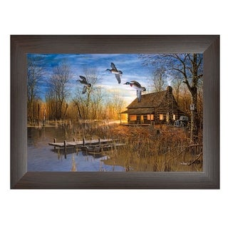 """""""Passing Through"""" By Jim Hansen, Printed Wall Art, Ready To Hang Framed Poster, Brown Frame"""