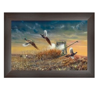 """The Last Pass"" By Jim Hansen, Printed Wall Art, Ready To Hang Framed Poster, Brown Frame"