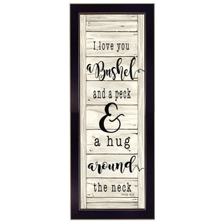 """""""Hug Around the Neck"""" By Cindy Jacobs, Printed Wall Art, Ready To Hang Framed Poster, Black Frame"""