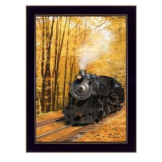 """""""Fall Locomotive"""" By Lori Deiter, Printed Wall Art, Ready To Hang Framed Poster, Black Frame"""