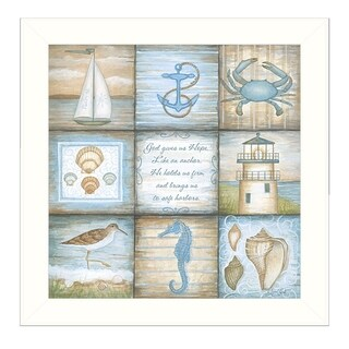 """""""Safe Harbors"""" By Annie LaPoint, Printed Wall Art, Ready To Hang Framed Poster, White Frame"""