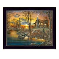 """As Night Falls"" By Jim Hansen, Printed Wall Art, Ready To Hang Framed Poster, Black Frame"