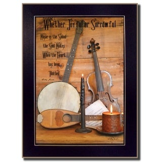 """Music"" By Billy Jacobs, Printed Wall Art, Ready To Hang Framed Poster, Black Frame"