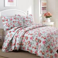 Clair Country Floral Flourish 3-Piece Cotton Quilt Set