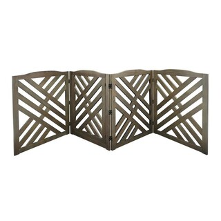 Lattice Pet Gate (Option: Grey)