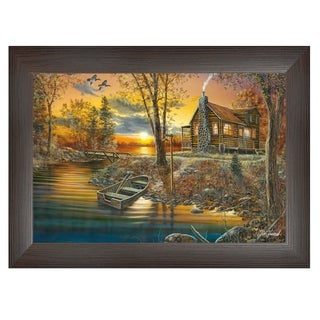 """As Night Falls"" By Jim Hansen, Printed Wall Art, Ready To Hang Framed Poster, Brown Frame"