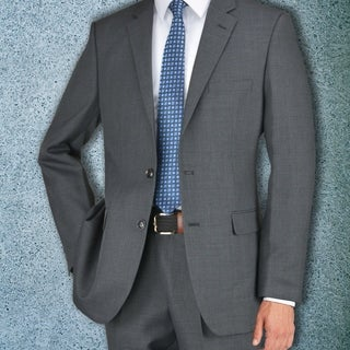 Carlo Studio Grayish Brown Plaid Suit