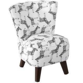 Skyline Furniture Kids Chair in Block Zebra Black White