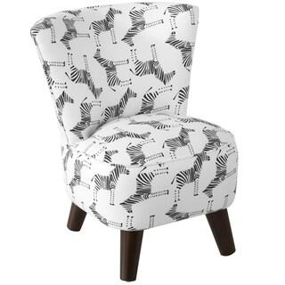 Skyline Furniture Kids Chair in Block Zebra Black White