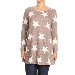 Women's Plus Size Star Pattern Tunic
