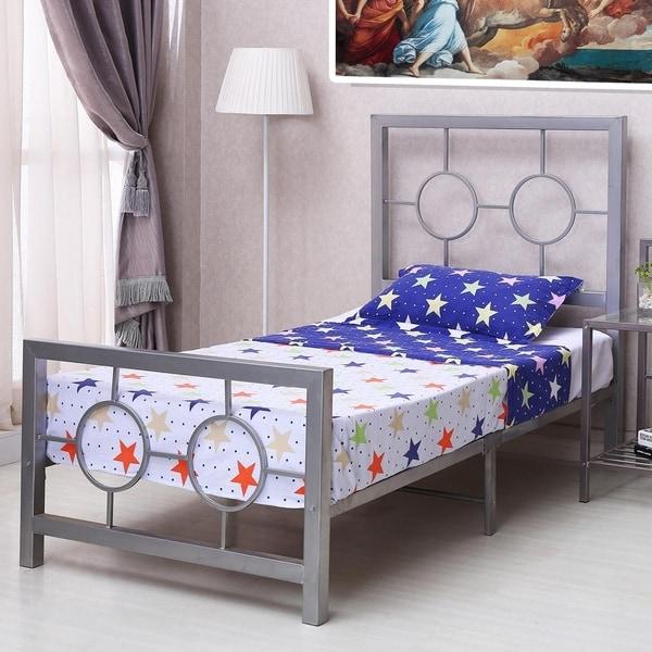 Shop Home Source Bedroom Furniture Metal Bed Frame, Circle