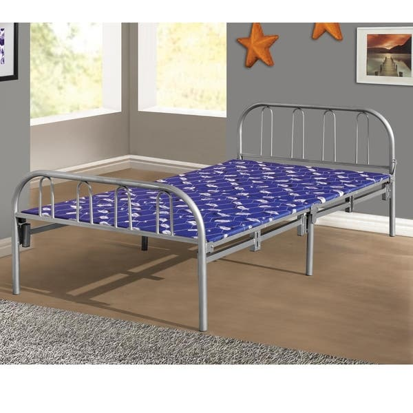 Awesome Shop Home Source Mitzi Metal Twin Size Folding Bed Frame Alphanode Cool Chair Designs And Ideas Alphanodeonline