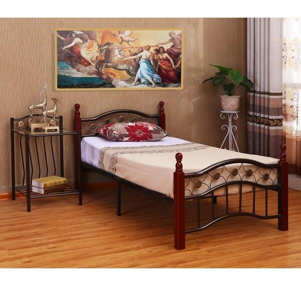 Shop Home Source Bedroom Furniture Twin Metal Bed