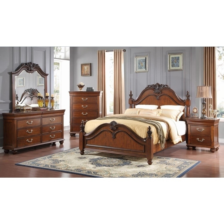 HSI Bedroom Furniture Highclere Castle Cherry (Red) Finis...
