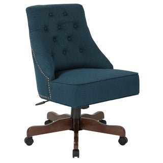 Rebecca Tufted Back Fabric Home Office Chair with Nailheads
