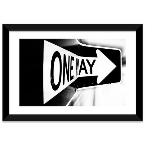 iCanvas Which Way (One Way) by Bob Larson Framed Fine Art Paper Print