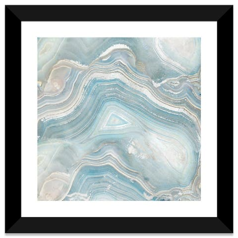 "iCanvas ""Agate in Blue I"" by Nan Framed Fine Art Paper Print"
